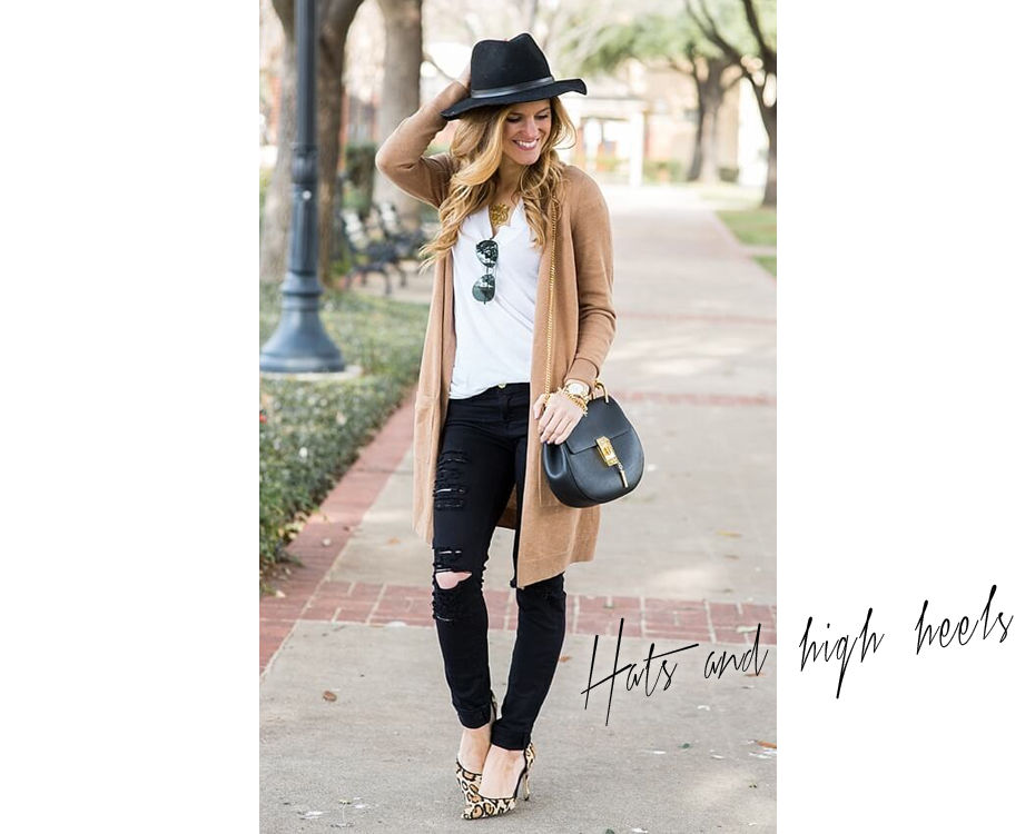 hats and high heels