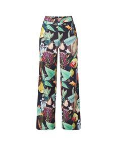Paradise high waist loose fit pantalon met dessin