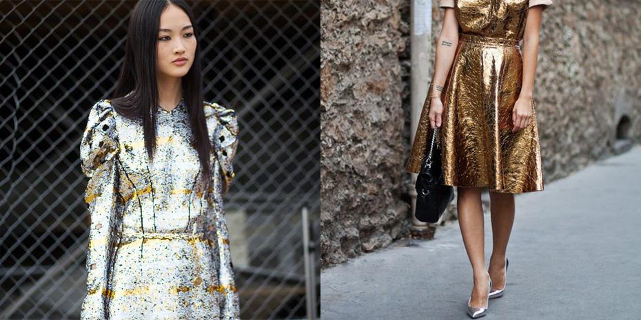 glimmende jurk