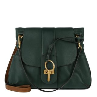 Schoudertassen - Lexa Medium Crossbody Double Strap Intense Green in bruin, groen voor dames
