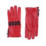 Maison Scotch Leather gloves with applique detail