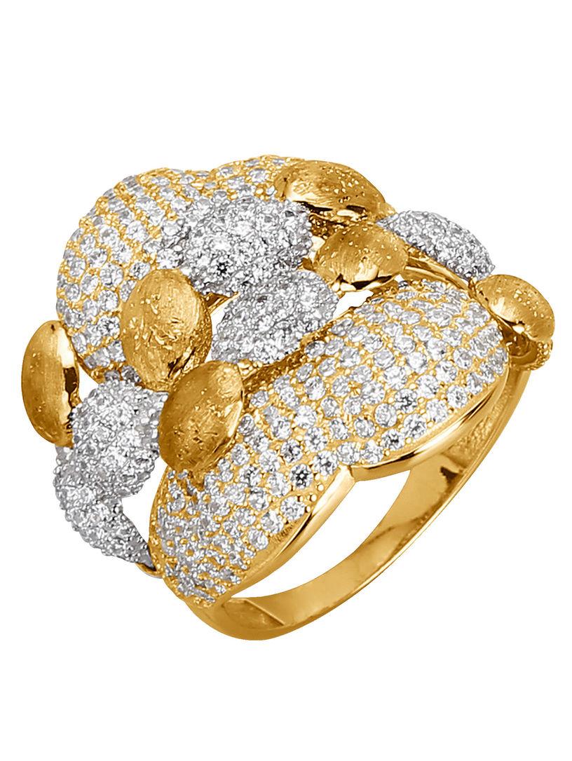 Goedkope Pick Een Best Sast Te Koop Diemer Gold Damesring met zirkonia's tricolor Goedkope Goede Verkoop IPmI54y8j