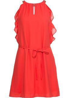 Dames jurk zonder mouwen in rood