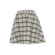 Designers Remix Wollen rok Checkskirt met rasterdessin