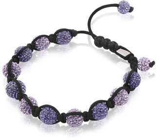 koord armband crystals paars one-size ZIA900P