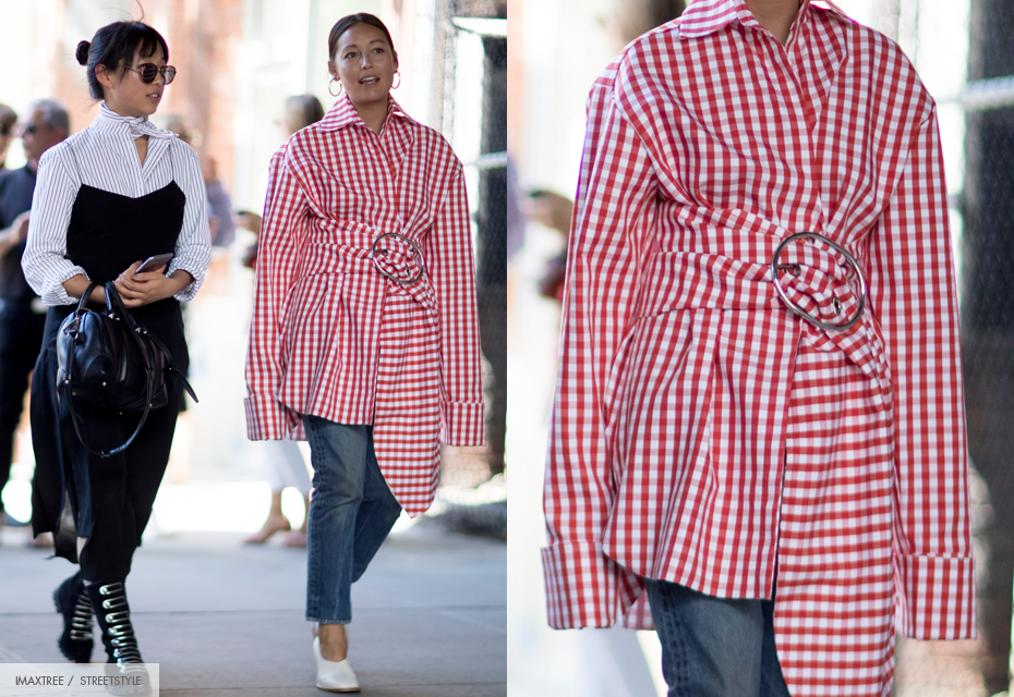 gingham blouse rood wit