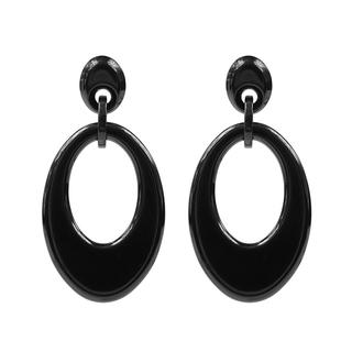 Oval Earrings - Black