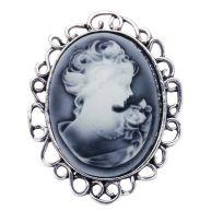 Broche antiek zilverkleur