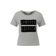 T-shirt Eshorty1- Zwart voor Dames - CoolCat (tshirt) (t shirt)