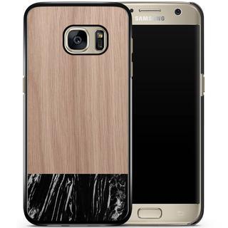 Samsung Galaxy S7 hoesje - Marmer zwart wood
