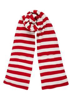Fijngebreide sjaal met streepdessin 180 x 45 cm