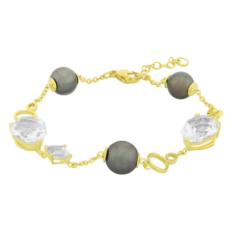 Juwelo Zilveren armband met witte kwartskristallen (M de Luca) Goedkope Koop Low Cost Betaalbare Online 100% Authentiek Online Met Paypal Online Te Koop Voorafgaande Bestelling orDV5PA