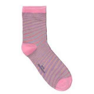 Sokken. Strepen. Glitters. Roze. Unicorn.