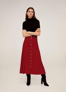 Lange rok met knopen