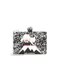 KARL LAGERFELD HOLIDAY MINAUDIERE Clutch black