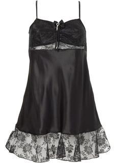 Dames slipdress zonder mouwen in zwart