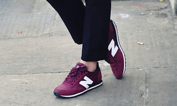 new balance dames donkerrood