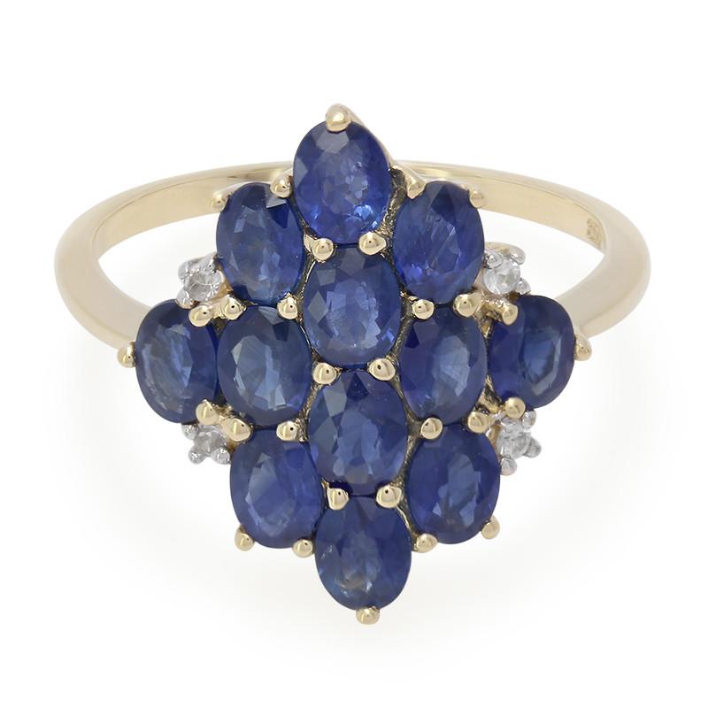 Juwelo Gouden ring met Laos saffieren Verkoop Online Winkelen 6S0kV60v