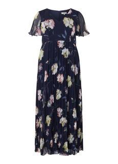 Megan geplisseerde maxi-jurk met bloemendessin