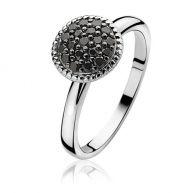 ZINZI zilveren ring zwart ZIR930Z