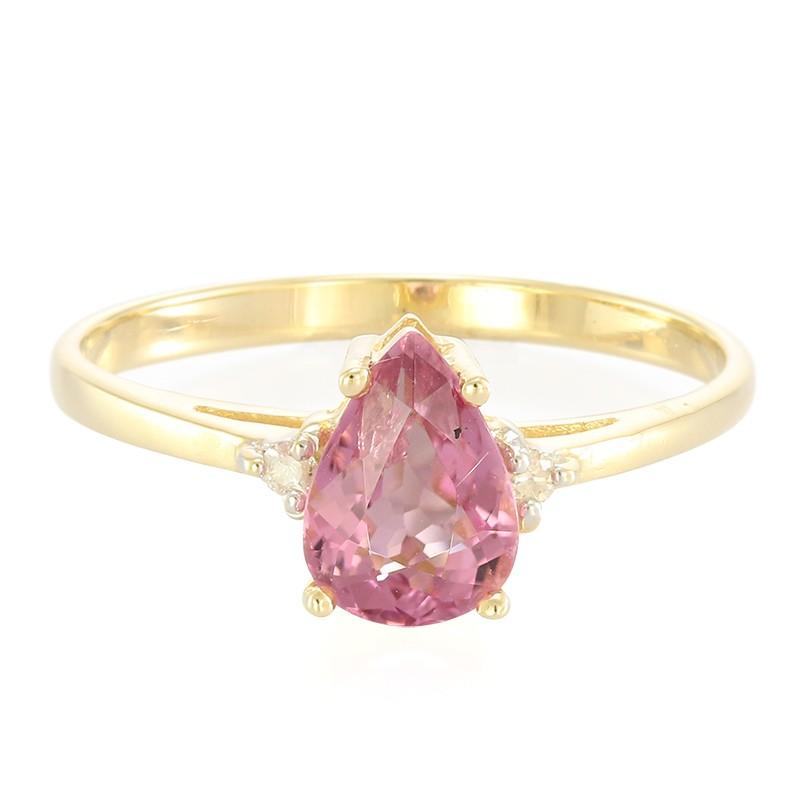 Juwelo Gouden ring met een roze koper toemalijn 2018 Nieuwste Online 9ay2skQPlk