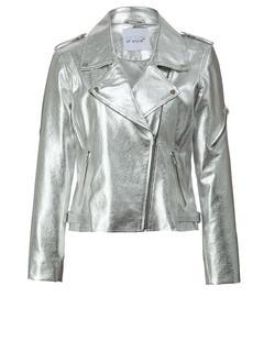 Imitatieleren jasje zilverkleur