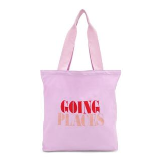 Canvas tote. Going places.