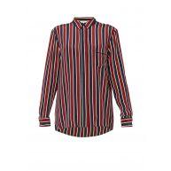 Ganni Donaldson blouse van zijde met streepdessin