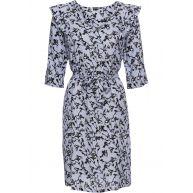 Dames jurk 3/4-mouw in blauw - BODYFLIRT