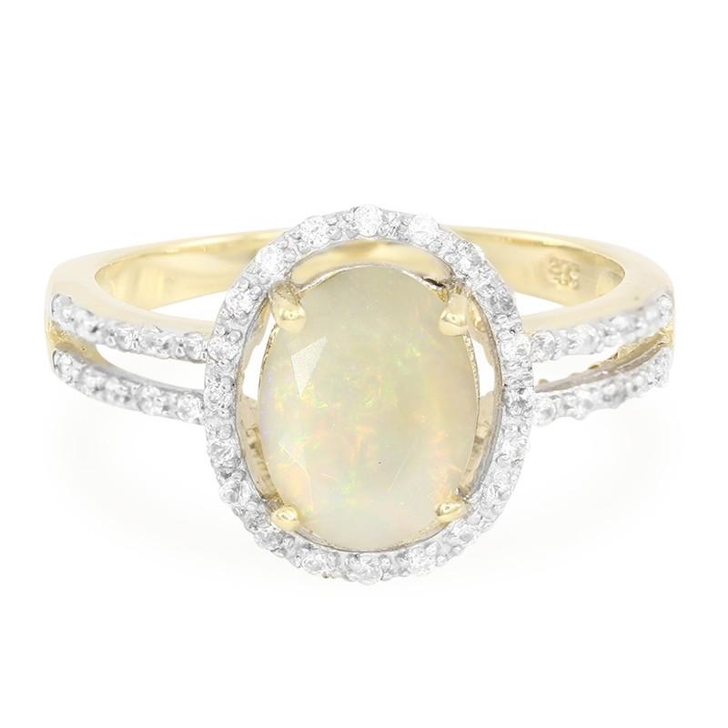 Juwelo Bague En Or Avec Une Opale Indonésienne Parfait Sortie 5Mp2sQu7O