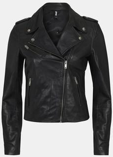 Eksept Leather Biker Jack Zwart