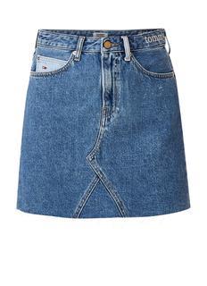 Mini spijkerrok met gerafelde zoom