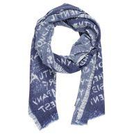 Fraas shawl blauw