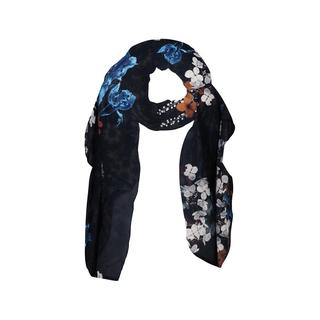 Scarf With Big Flower Print