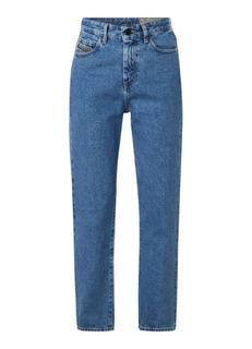 D-Eiselle high rise straight fit jeans met contrast