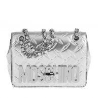 Moschino Schoudertassen - Logo Shoulder Bag Silver in zilver voor dames