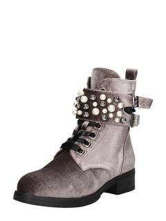 dames veterschoenen - Taupe