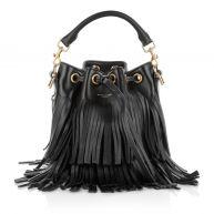 Saint Laurent Schoudertassen - Small Bucket Bag Fringe Black in zwart voor dames