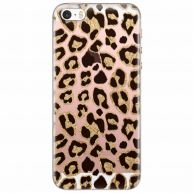 iPhone 5/5S/SE transparant hoesje - Leopard