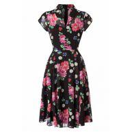 50s Bloomsbury Dress in Black
