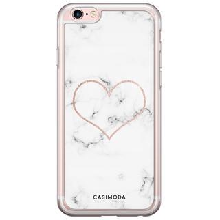 iPhone 6/6s siliconen hoesje - Marmer hart