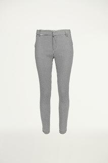 Zwart-wit geruite pantalon