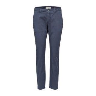 straight fit broek blauw