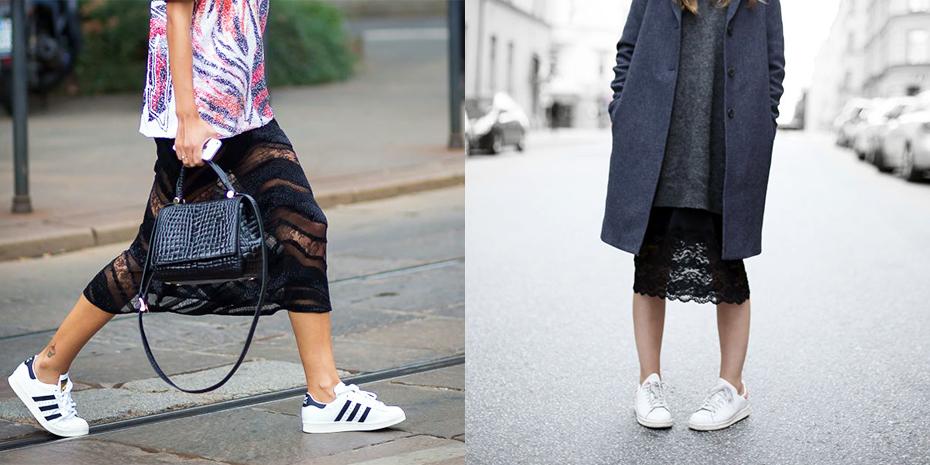 adidas sneakers dames wit met kant