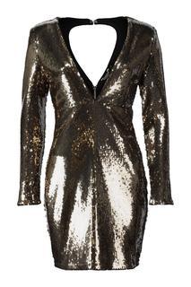 Dames Party dress Nxsequin Metalic