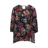 Floral cut-out blouse