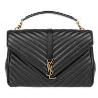 Saint Laurent Tassen met handvat - Monogramme Large College Bag Poncho Nero in zwart voor dames