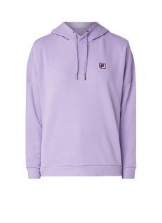 Ada cropped hoodie met logo-patch