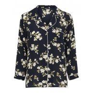 ONLY Bloemenprint Overhemd Met Lange Mouwen Dames Zwart