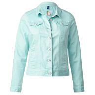 Gekleurd jeansjack - pastel blue color denim